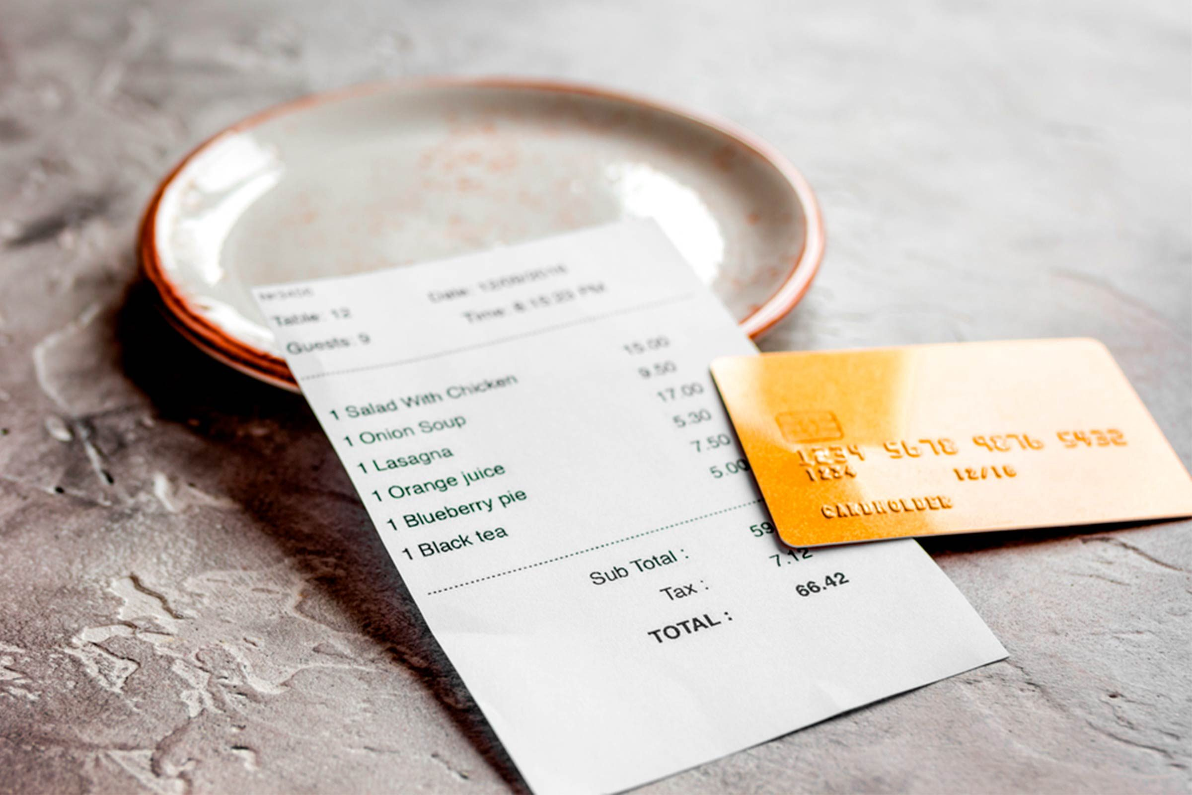 Slide 10 of 12: When the waiter brings the check, do you automatically hand over your credit card without looking at the bill? Big mistake. Always scrutinize the bill to make sure the charges are accurate. This may seem obvious, but many people don't do it. A waiter once accidentally brought me the check for a neighboring table of eight, which was considerably higher than the bill for my table of two! Be sure to note whether the gratuity has been included in the total—it often is for larger parties. (You're not insulting the waiter by checking the charges.) Here are 17 more habits of people who are great at saving money.