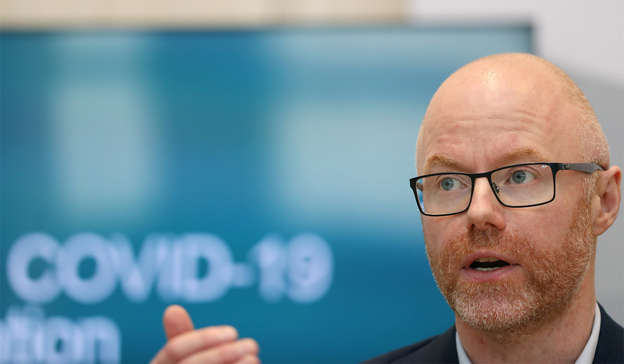 Stephen Donnelly wearing glasses: Mr Donnelly said last week that there was 'significant' extra capacity available should Ireland need to add more countries to the list. Pic: Leah Farrell/RollingNews.ie