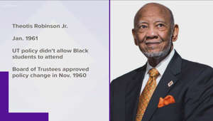 Bunk Johnson wearing a suit and tie: UT celebrates iconic Black activists