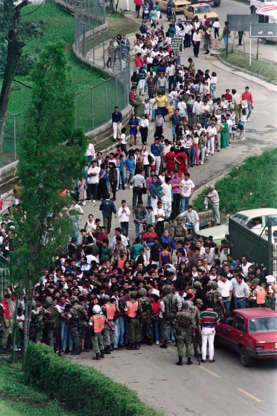 Slide 27 of 29: An estimated 25,000 people attended his funeral in Colombia.