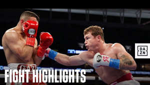 a man in a boxing ring: February 27th, 2021 -- Canelo Alvarez vs. Avni Yildirim from the Hard Rock Stadium in Miami, Florida.  Subscribe to our YouTube channel 👉  http://bit.ly/DAZNBoxingYouTube  Download the DAZN app now 👉  http://bit.ly/DAZNYoutube  Follow DAZN Boxing On Social Media 👇 Twitter: https://www.twitter.com/DAZNBoxing Instagram: https://www.instagram.com/DAZNBoxing Facebook: https://www.facebook.com/DAZN