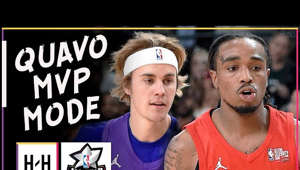 a man holding a sign: Quavo MVP Full Highlights | 2018 NBA All Star Celebrity Game | Feb 16, 2018 ✔️ Subscribe, Like & Comment for More! ✔️ --------- 🔎 Follow our Instagram: https://goo.gl/Syw81B 🔎 Follow our Twitter: https://goo.gl/5aata7