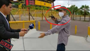 "If you enjoy the content please hit that subscribe button to not miss out on more!!  A TV reporter is robbed at gunpoint on-air in broad daylight outside a football stadium in Ecuador!!  This is the dramatic moment a TV reporter and his crew were left staring down the barrel of a gun before being robbed outside a football stadium in Ecuador. Journalist Diego Ordinola was reporting for DirecTV Sports when the incident occurred outside the Isidro Romero Carbo Monumental Stadium - home of club Barcelona SC.  While filming on air, the crew were abruptly interrupted when a member of the public approached them pointing a gun in their direction. Wearing a face mask and a cap to help hide his identity, the man reportedly asked for phones and their cameras. According to Explica, one of the crews behind the camera handed over his phone before the man ran off. The crew then attempted to film the man fleeing and spotted him on a motorbike with an accomplice escaping the area. Ordina uploaded the dramatic footage to Twitter alongside the statement: ""We can't even work quietly, this happened at 1pm outside the Monumental Stadium.  ""The @PoliceEcuador promised to find these criminals.""  Please Note: No Copyright Intended, if the video violates any copyright laws, please e-mail and it will be removed immediately."
