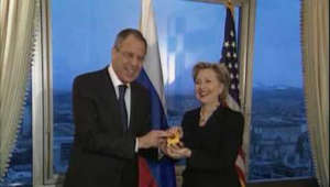 Secretary of State Hillary Rodham Clinton gave Russian Foreign Minister Sergey Lavrov with a 'reset button,' however the Russian-language label had the wrong word, and read 'overcharged' instead of 'reset.' (March 6)