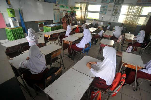 Ilustrasi belajar di sekolah. Foto: Iggoy el Fitra/Antara Foto