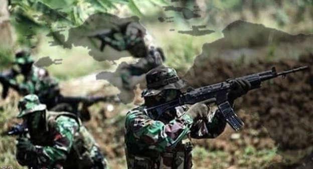 Ilustrasi TNI buru KKB Papua. Foto: Pupspen