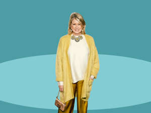 a close up of Martha Stewart