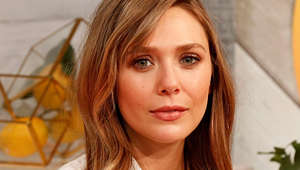 a close up of Elizabeth Olsen