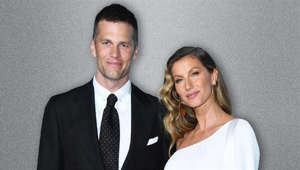 Tom Brady, Gisele Bundchen posing for the camera