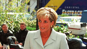 Diana, Princess of Wales wearing a suit and tie