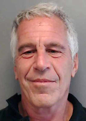 Jeffrey Epstein smiling for the camera: Epstein, a convicted paedophile, took his own life in the Metropolitan Correctional Centre in New York in August 2019, having been charged with sex trafficking. Pic: Florida Department of Law Enforcement via Getty Images