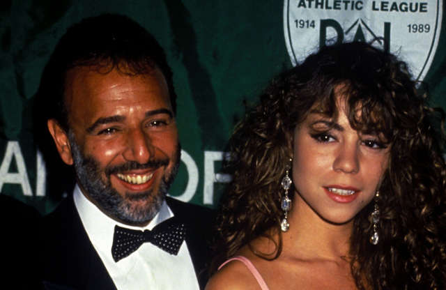 Slide 8 of 11: Tommy Mottola and Mariah first started dating while he was her manager, and she was recording her third album 'Music Box'. The star was only 23 years old while Tommy was 44 when they exchanged vows in 1993 at a lavish wedding. Unfortunately, the marriage didn't go to plan as they went their separate ways in 1998 after five unhappy years.