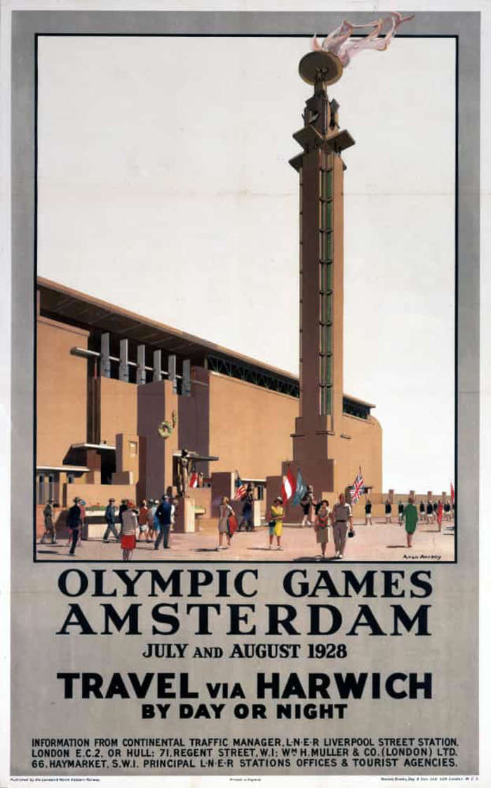 8 of 33 Photo in Gallery: The tradition of an Olympic fire was relit in Amsterdam in 1928 when the flame made its first appearance of the modern age at the top of the Marathon Tower, which overlooked the Olympic Stadium, the venue for the athletics events.