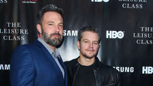 Ben Affleck, Matt Damon are posing for a picture: Hollywood stars have been known to all run in the same circles, but some of them were even friends before becoming famous.  These musicians, actors, and politicians shared their classrooms when they were children, and some of them remain good friends to this day.  As for the others... let's just say they grew apart.