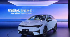 calendar: Xpeng Motors launches the P5 sedan at an event in Guangzhou, China on April 14, 2021. The P5 is Xpeng's third production model and features so-called Lidar technology.