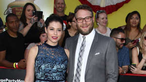 Lauren Miller, Seth Rogen posing for a photo: In 2004, Seth began dating actress Lauren Miller, they were engaged on September 29, 2010, and married on October 2, 2011.  Last year, they celebrated their 9th wedding anniversary. To commemorate the occasion, Seth posted a throwback photo of the two of them playing video games at their wedding day. Cute!