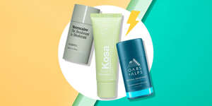 """Truth: Aluminum-free deodorant is actually an oxymoron because true deodorants are already free of aluminum. 🤯 Yep. While deodorant has become the catch-all term for anything you swipe under your arms, it's actually a term for a specific type of product.""""Deodorants cover up the smell with fragrances or ingredients that lower levels of odor causing causing bacteria, while anti-perspirants contain aluminum bass salts that literally form a plug within your sweat glands, blocking sweat from reaching the surface of the skin,"""" explains Joshua Zeichner, MD, director of cosmetic and clinical research in dermatology at Mount Sinai Hospital in New York City. So, when you take out the aluminum, you also take out the antiperspirant qualities, which means you're gonna sweat. So, to be sure you're actually getting a deodorant and not an antiperspirant, just double check the label. Most products now call out if they are aluminum-free, so it's easier than ever. And, while you may have heard that there's an *extra stinky* transition period when making the switch to an aluminum-free deodorant, Dr. Zeichner says that's usually not the case and the biggest side effect is that your armpits may be a little more wet than usual.If you're ready for the aluminum-free deodorant journey, here is a list of the best ones to try for your stinkiest of workouts and those days you barely move off of the couch."""