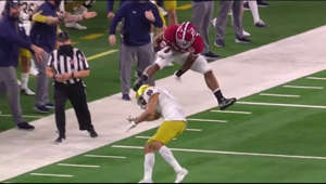 Alabama star running back Najee Harris makes the Notre Dame defender look silly on this ridiculous hurdle midway through the first quarter. Following the play, the Crimson Tide scored a touchdown to take an early 14-0 lead over the Notre Dame Fighting Irish in the 2021 Rose Bowl.    Get your SportzCases here! - http://sportzcases.com?aff=203  Promo Code for 10% off: Procentral  Make sure to comment suggestions for future videos below. Enjoy!  Outro Song: https://www.youtube.com/watch?v=U5oojvIGXCA  Twitter: https://twitter.com/pros_central  Instagram: https://www.instagram.com/psc_highlights/  Business Email: jaymichael23yt@gmail.com  (All rights go to ESPN, Fox, CBS, Universal Music Group, the NFL, NBA, NCAA & it's broadcasters. I do not own the music and the footage used in this video. No copyright infringement intended. For entertainment purposes only)  #CollegeFootball