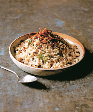 a bowl of food: Keema sau pulao is the perfect sharing dish, especially if you are planning to eat outdoorsAsma Khan