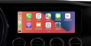 graphical user interface: Apple's CarPlay support has been upgraded with a lot of new features in iOS 14, including the ability to set a custom wallpaper. Image: Apple, Inc.