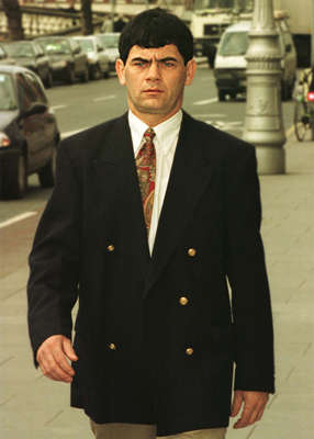 Gerry Hutch wearing a suit and tie: In 2008, Gerry Hutch told a documentary about his life that he had earned his money legitimately. Pic: Collins Dublin