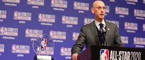 basket-ball - media du all-star game nba - chicago - adam silver - 15022020