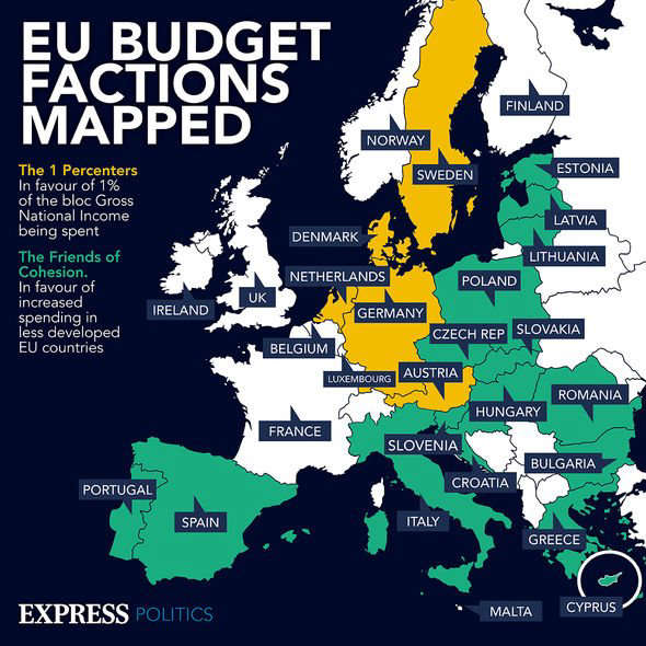 map: EU budget factions