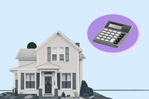 a person in front of a building: Mortgage-Refinance-Home-April
