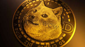 a close up of a clock: Dogecoin Cryptocurrency