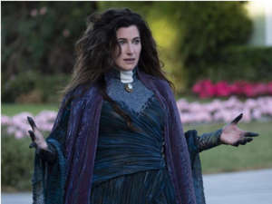 Kathryn Hahn looking at the camera: Kathryn Hahn spoke to Insider about the possibility of Mephisto joining the MCU. Disney Platform Distribution