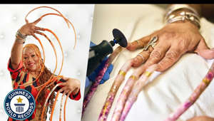 ► Watch the GWR's Favourites || http://gwr.co/YT-Favs Read more here: https://www.guinnessworldrecords.com/news/2021/4/woman-with-worlds-longest-nails-has-them-cut-after-almost-30-years-654013  Ayanna Williams had been growing her nails for over 25 years but she finally decided it was time for the ultimate manicure.  Measured at a final length of 733.55cm (24ft 0.7in), Ayanna holds the current record for the longest fingernails on a pair of hands (female) - a record title she has held since 2017.  Dr. Allison Readinger of Trinity Vista Dermatology in Forth Worth, Texas, USA, was the dermatologist in charge of the cutting; admitting it was her first time doing a procedure on this scale!  The nails will first be on show at Ripley's Believe It Or Not! in Orlando, Florida.   In the immediate future, Ayanna plans to grow her nails again, but not quite to the length she previously measured at.    ----------------------------------------------------------------------------------------------  At Guinness World Records we want to show that everyone in the world is the best at something, and we're here to measure it! Whether you've got the stretchiest skin, know the world's smallest dog or want to create the largest human dominoes chain we want to hear about it.   Here on the Guinness World Records YouTube channel we want to showcase incredible talent. If you're looking for videos featuring the world's tallest, shortest, fastest, longest, oldest and most incredible things on the planet, you're in the right place.  ----------------------------------------------------------------------------------------------  Website || http://bit.ly/GWR-Website Facebook || http://bit.ly/GWR-FB Twitter || http://bit.ly/GWR-TW Instagram || http://bit.ly/GWR-Insta Snapchat || http://bit.ly/GWR-SC TikTok || http://bit.ly/GWR-TT  THIS IS EXCLUSIVE TO GUINNESS WORLD RECORDS - EMBED ONLY  For licensing: kathryn.hubbard@guinnessworldrecords.com  #GWR #GuinnessWorldRecords #WorldRecords