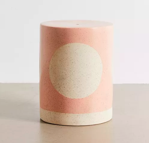 a cup of coffee: Urban Outfitters Ceramic Drum Indoor/Outdoor Side Table