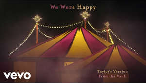 "a close up of a tent: Official lyric video for ""We Were Happy"" (From The Vault) (Taylor's Version) – off her Fearless (Taylor's Version) album. Get the album here: https://taylor.lnk.to/fearlesstaylorsversion.   ►Subscribe to Taylor Swift on YouTube: https://ts.lnk.to/subscribe    ►Exclusive Merch: http://taylorswift.lnk.to/store  ►Follow Taylor Swift online: Instagram: http://instagram.com/taylorswift   Facebook: http://facebook.com/taylorswift   Tumblr: http://taylorswift.tumblr.com   Twitter: http://twitter.com/taylorswift13   Snapchat: http://snapchat.com/add/taylorswift Website: http://www.taylorswift.com    ►Follow Taylor Nation Online Instagram: http://instagram.com/taylornation   Tumblr: http://taylornation.tumblr.com   Twitter: http://twitter.com/taylornation13 TikTok: http://tiktok.com/@taylornation  Official Lyrics:  We used to walk along the streets  When the porch lights were shining bright  Before I had somewhere to be  Back when we had all night  And we were happy  I do recall, a good while back  We snuck into the circus  You threw your arms around my neck  Back when I deserved it  And we were happy   When it was good, baby  It was good, baby  We showed 'em all up  No one could touch the way we  Laughed in the dark  Talking 'bout your daddy's farm  We were gonna buy someday  And we were happy   We used to watch the sun go down  On the boats in the water  That's sorta how I feel right now  And goodbye's so much harder  Cause we were happy   Repeat chorus  We were happy   Oh, I hate those voices  Telling me I'm not in love anymore  But they don't give me choices  And that's what these tears are for  Cause we were happy  We were happy   When it was good, baby  It was good, baby  We showed 'em all up  No one could touch the way we  Laughed in the dark  Talking 'bout your daddy's farm  And you were gonna marry me  And we were happy  We were happy  Oh, we were happy  #taylorswift #wewerehappy #fromthevault #fearlesstaylorsversion  Music video by Taylor Swift performing We Were Happy (Taylor's Version) (From The Vault). © 2021 Taylor Swift  http://vevo.ly/lEaSQK"