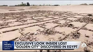 NBC's exclusive footage shows the lost golden city of Luxor, Egypt, discovered by archaeologists. NBC's Molly Hunter joins 'The News with Shepard Smith' to report.