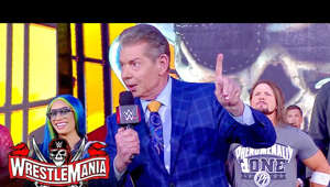 Vince McMahon, Allen Jones posing for the camera: The Chairman opens WrestleMania 37 with an address to the WWE Universe. Catch WWE action on Peacock, WWE Network, FOX, USA Network, Sony India and more. #WrestleMania  Stream WWE on Peacock https://pck.tv/3l4d8TP in the U.S. and on WWE Network http://wwe.yt/wwenetwork everywhere else