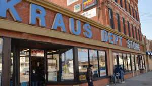 a store in a brick building: Kraus Department Store on Parade Street in Erie helps homeowners find fixes