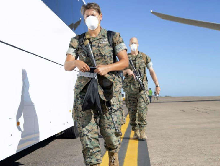 a man in a military uniform: US Marines regularly rotate through Darwin for exercises with Australian forces. (US Marines)