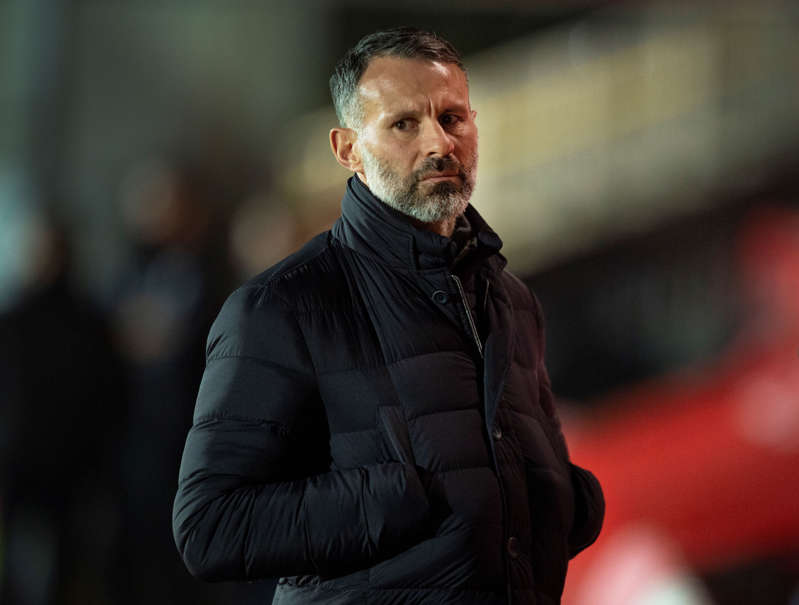 File: Manager of the Wales national team and a co-owner of Salford City, Ryan Giggs, during the Sky Bet League Two match between Salford City and Newport County at Moor Lane on December 15, 2020 in Salford, England. (Photo by Joe Prior/Visionhaus)