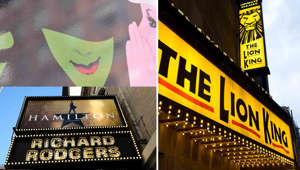a close up of a sign: Reopening dates announced for Broadway shows