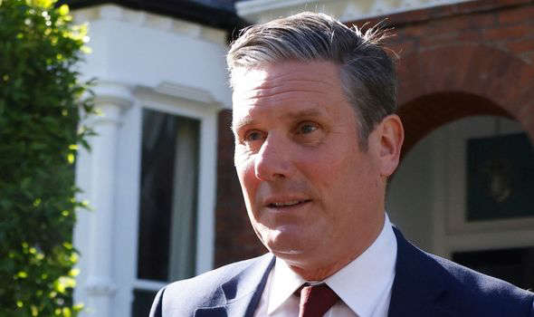 Keir Starmer wearing a suit and tie