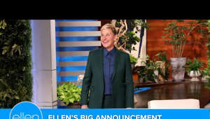 a man standing in front of a sign: Ellen announced that her talk show will come to a close in the spring of 2022 after an incredible 19 seasons. She explained her decision to end this chapter, then shared what she has in store for the final season, and expressed a sincere thank you to all the fans who made this the greatest experience of her life.