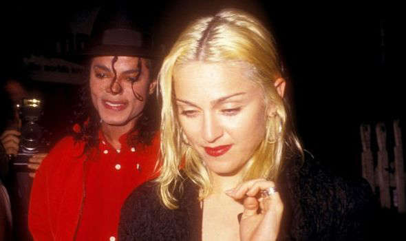 Michael Jackson, Madonna are posing for a picture: Michael Jackson madonna