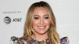 Hilary Duff smiling for the camera
