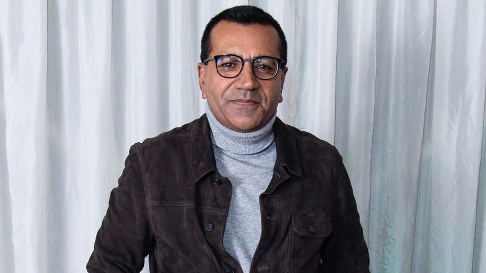 Martin Bashir standing in front of a curtain: Martin Bashir interviewed Princess Diana for Panorama in 1995