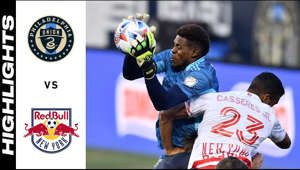 a man jumping in the air: Long-time rivals Philadelphia Union and the New York Red Bulls face-off in this Week 5 match up of the 2021 MLS Regular Season.