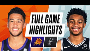 Devin Booker posing for the camera: SUNS AT SPURS | FULL GAME HIGHLIGHTS | May 15, 2021  The Phoenix Suns defeated the San Antonio Spurs, 140-103. Devin Booker led all scorers with 27 PTS and 4 AST for the Suns, while Chris Paul added 16 PTS (7-10 FG), 5 REB and 10 AST in the victory. Keldon Johnson tallied 18 PTS for the Spurs.  Next Game: Phoenix Suns at San Antonio Spurs - May 16 at 2pm/et on NBA League Pass  0:00-1Q 3:12-2Q 5:35-3Q 7:53-4Q  Subscribe to the NBA: https://on.nba.com/2JX5gSN  Full Game Highlights Playlist: https://on.nba.com/2rjGMge  For news, stories, highlights and more, go to our official website at https://app.link.nba.com/e/NBA_site  Get NBA LEAGUE PASS: https://nba.app.link/nbaleaguepass5