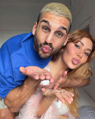 a man and a woman taking a selfie: The pair shared a cute Instagram pic confirming they were still together almost three years on since first meeting on the show.