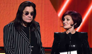 Ozzy Osbourne, Sharon Osbourne are posing for a picture: Sharon and Ozzy Osbourne