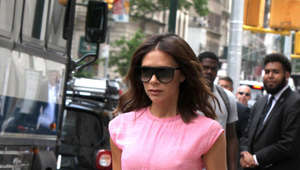 Victoria Beckham is walking down the street