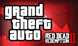 text: GTA 5 Online and Red Dead Redemption 2 down